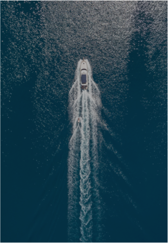 stock photo aerial view on the sea and boat beautiful natural seascape at the summer time 1095267272