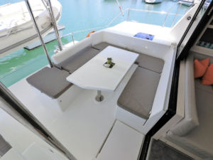 Leopard 43 Power Catamaran After Deck
