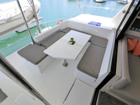 Leopard 43 Power Catamaran After Deck