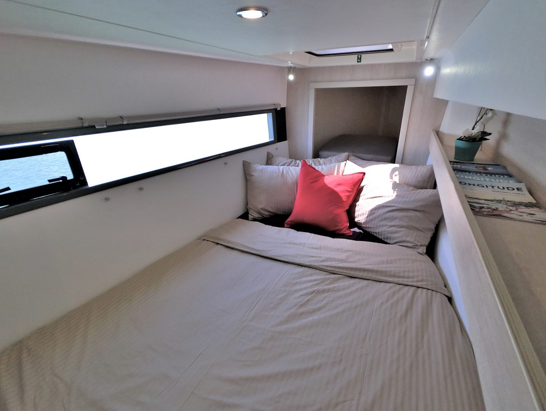 Leopard 43 Power Catamaran Cabin 2