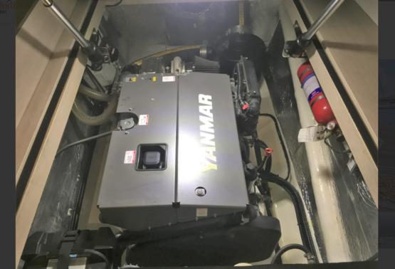 Leopard 43 Power Catamaran Port Engine