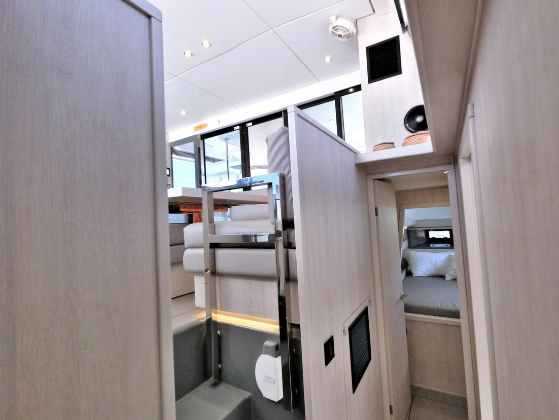 Leopard 43 Power Catamaran Hallway 2