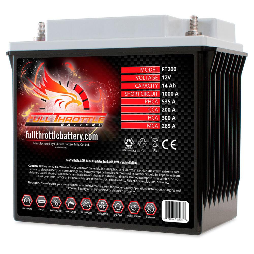 FT200 - PC535 Engine Start Battery Engine Starting Battery AGM Start Battery Boat Engine Battery