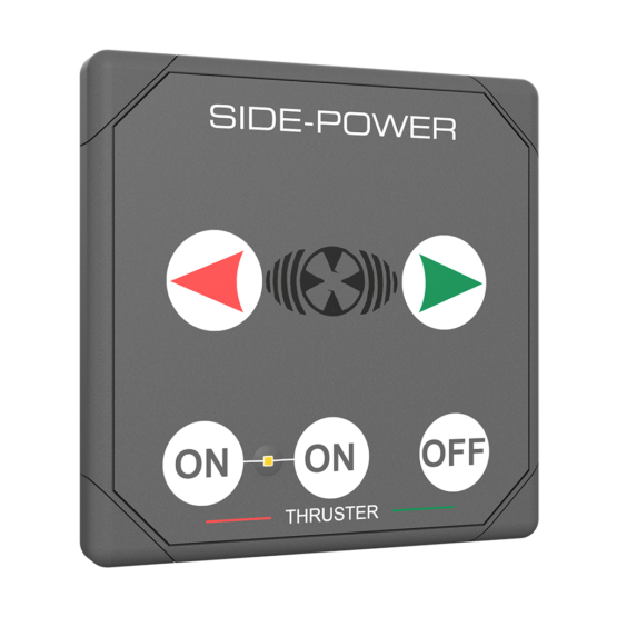 Side Power Control - Touch Control - Square - 12/24V